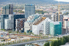 View on Bjorvika buildings at downtown of Oslo royalty free stock photography