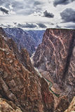 View of the Black Canyon of the Gunnison in CO Stock Photos