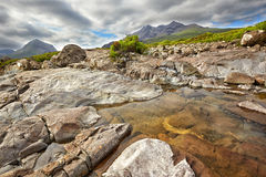 View on Black Cuillin ridge, Isle of Skye, Scotland Royalty Free Stock Photography