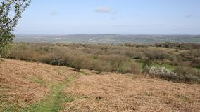 View from Black Down highest hill in Mendip Hills Somerset in south-west England UK Royalty Free Stock Photos