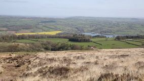 View from Black Down Mendip Hills Somerset in south-west  England towards Blagdon Lake and Chew Valley Stock Images