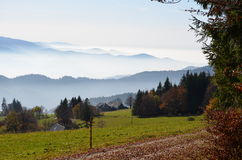 Misty mountains in the Black Forest / Germany Royalty Free Stock Photography