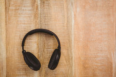 View of a black headphone Royalty Free Stock Photo