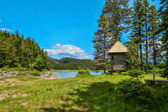 View of The Black Lake. Crno jezero in Durmitor National Park, Montenegro Royalty Free Stock Images