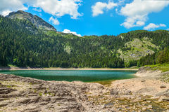 View of The Black Lake. Crno jezero in Durmitor National Park, Montenegro Stock Image
