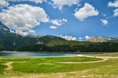 View of The Black Lake. Crno jezero in Durmitor National Park, Montenegro Royalty Free Stock Image