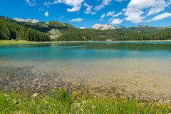 View of the Black Lake. Royalty Free Stock Photography