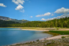 View of The Black Lake. Crno jezero in Durmitor National Park, Montenegro Stock Images