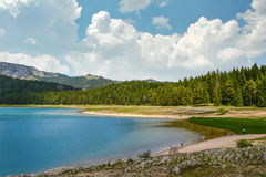 View of The Black Lake. Crno jezero in Durmitor National Park, Montenegro Stock Photo