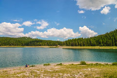 View of The Black Lake. Crno jezero in Durmitor National Park, Montenegro Stock Photography