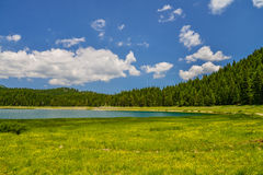 View of The Black Lake. Crno jezero in Durmitor National Park, Montenegro Royalty Free Stock Photo