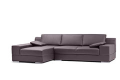 A view of a black leathered sofa Stock Photography
