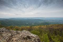 View from Black Rock Mountain Near Big Meadows Royalty Free Stock Image