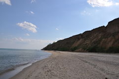 View of the Black Sea. In the afternoon weekend in the sunny day. Royalty Free Stock Photos