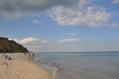 View of the Black Sea. In the afternoon weekend in the sunny day. Royalty Free Stock Photography