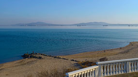 View of the Black Sea in Burgas. Stock Image