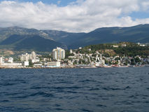View of the Black Sea coast in Yalta, the Crimea Royalty Free Stock Photography