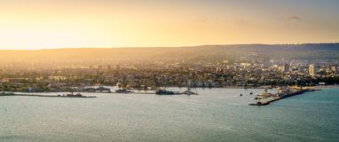 Varna Black Sea coastline Royalty Free Stock Image