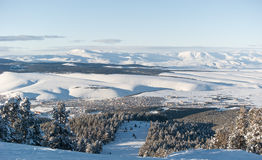 View from black ski route to Sarikamis Royalty Free Stock Image