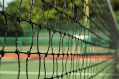 The tennis net pattern at the tennis court stock image
