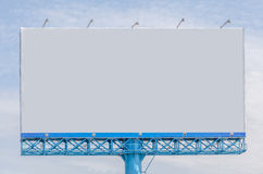 View of blank billboard for public advertisement. Stock Images