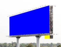 View of blank billboard for public advertisement. Royalty Free Stock Image