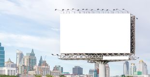 View of blank billboard ready for new advertisement outstanding Royalty Free Stock Image