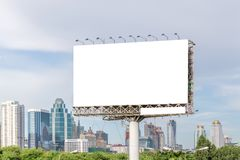 View of blank billboard ready for new advertisement outstanding Royalty Free Stock Photo