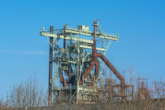 View blast furnace of an old steel mill Royalty Free Stock Photography