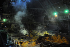 View of the blast furnace shop inside Stock Photo
