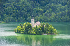View of Bled lake Slovenia Stock Photography