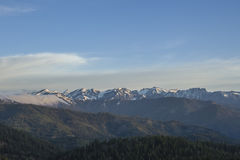 View from Blewett Pass. View of The Enchantments and Mt. Stewart from Blewett Pass Royalty Free Stock Photography