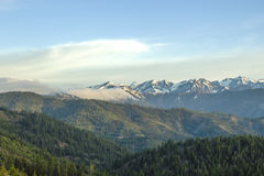 View from Blewett Pass. View of The Enchantments and Mt. Stewart from Blewett Pass Stock Photos