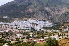 A view of the blue city, Chefchaouen, Morocco Royalty Free Stock Photography