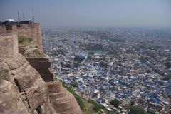 View of the Blue City from the Mehrangarh Fort Royalty Free Stock Photos