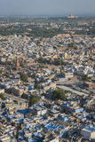 View of Blue City, Rajasthan, India Stock Images
