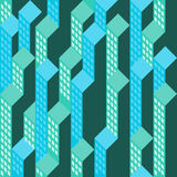 View on blue green blocks Royalty Free Stock Image