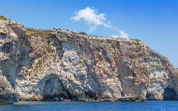 Blue Grotto Coast in Malta Royalty Free Stock Images