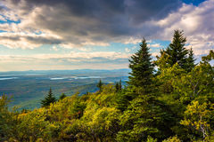 View from Blue Hill Overlook in Acadia National Park, Maine. Royalty Free Stock Photography