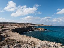 The View of the Blue Lagoon from Cape Greco Cyprus Stock Photos