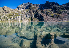 View of the Blue Lake  in Stubai Alps Royalty Free Stock Photography