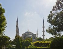 View of the Blue Mosque in Istanbul Stock Photos