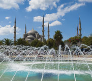 View of the Blue Mosque in Istanbul Stock Photo