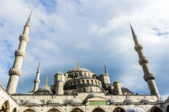 View on Blue Mosque in Istanbul Royalty Free Stock Photos