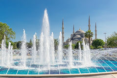 View of the Blue Mosque in Istanbul, Turkey Stock Photography