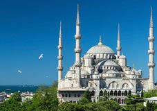 View of the Blue Mosque in Istanbul, Turkey Stock Photo
