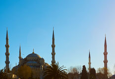 View of the Blue Mosque, Sultanahmet Camii, in Istanbul, Turkey Stock Photo
