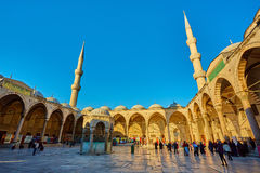 View of the Blue Mosque, Sultanahmet Camii, in Istanbul, Turkey Stock Image
