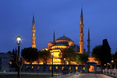 View of the Blue Mosque (Sultanahmet Camii) at night Royalty Free Stock Photo