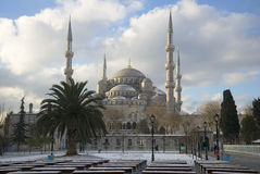 View of the Blue mosque on a winter afternoon. Istanbul Royalty Free Stock Photos